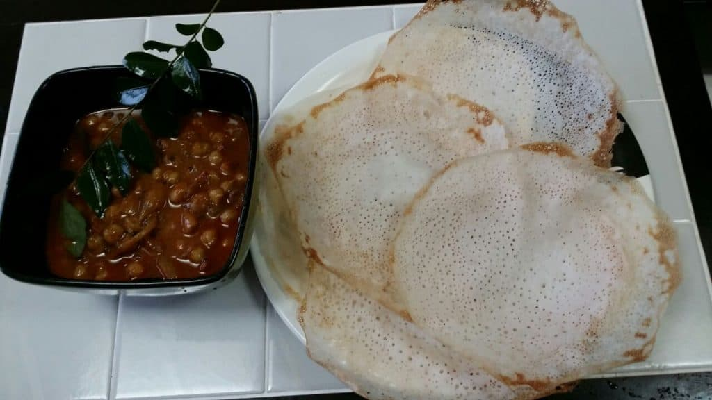 Appam and kadala