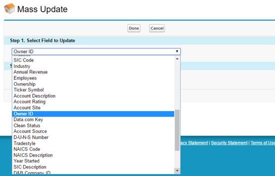 Mass Update Salesforce