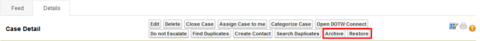 Archieve email to case