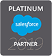 Salesforce Platinum partner badge for consulting, implementation, development and integration