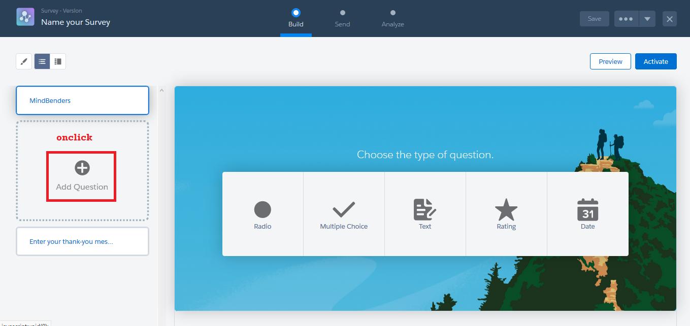 Survey in Salesforce